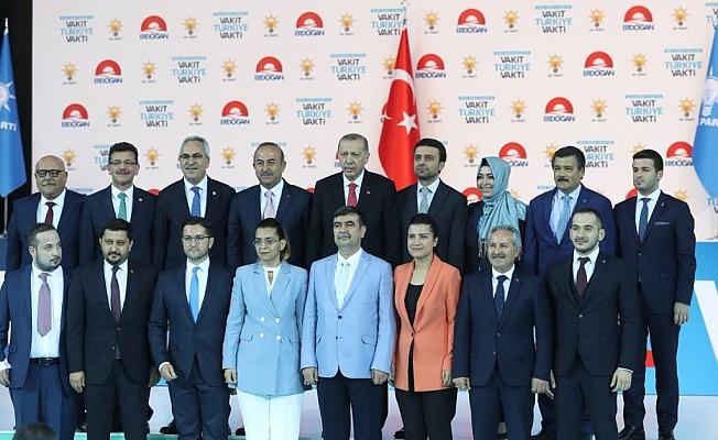 Erdoğan ve Antalya adayları bir arada
