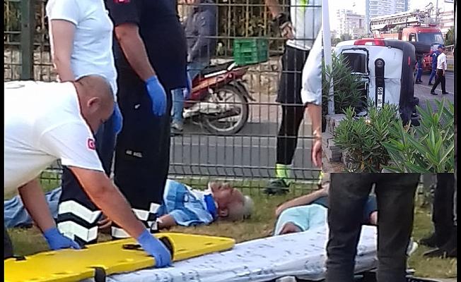 Mahmutlar'da feci kaza: 2 yaralı