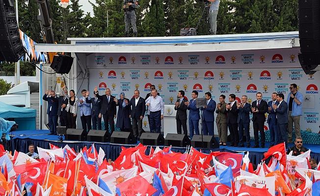 Erdoğan, Antalya  mitinginde konuştu