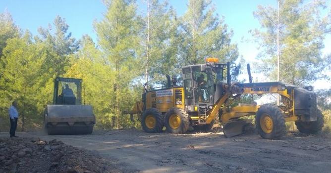 Bayır Mahallesi yolu asfalta hazırlanıyor