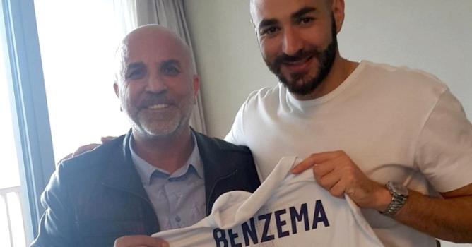 Benzema ile buluştu