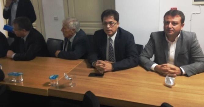 Berberoğlu, Özhaseki'nin toplantısına katıldı