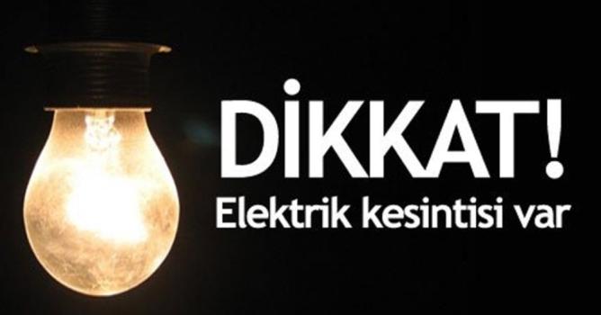 Bu mahallelerde elektrik kesilecek