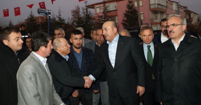 Çavuşoğlu, şehit  ailesini ziyaret etti
