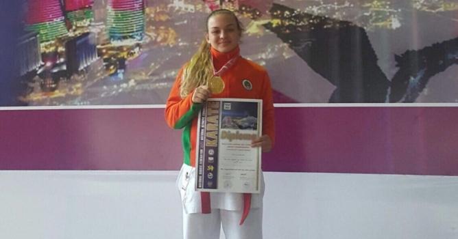 Ceyda altın madalya kazandı