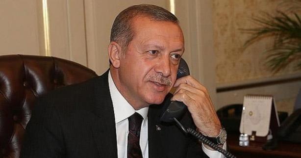 Cumhurbaşkanı Erdoğan'dan 'Geçmiş olsun' telefonu