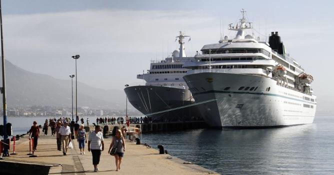 Lüks gemiler Alanya'da