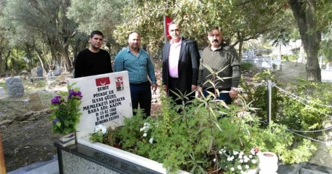 MHP'lilerden şehit mezarına bakım