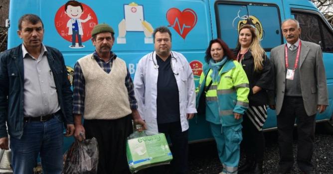 Mobil sağlık  taraması hizmette