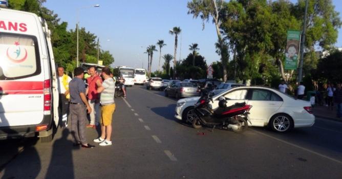 Motosikletli  ağır yaralandı