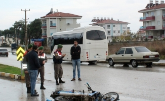 Liseli gençler motosiklet kurbanı