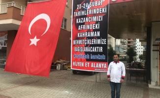 2 günlük kazancını Afrin'deki askerlere bağışlayacak