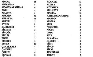 Antalya'da vekil sayısı  16 olarak tescillendi