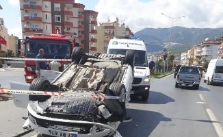 Alanya'da kaza ucuz atlatıldı