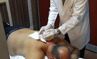 Mahmutlar'da sülüklü tedavi