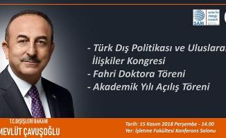 BAKAN ÇAVUŞOĞLU ALKÜ'YE GELİYOR