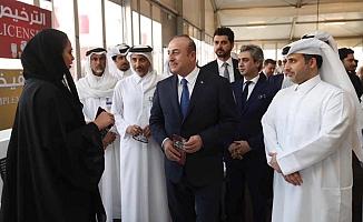Çavuşoğlu, Katar'da temaslarda bulundu
