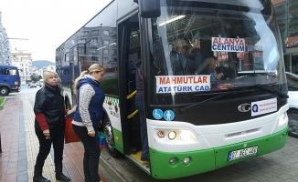 Mahmutlar'ın yeni otobüsleri kontak çevirdi