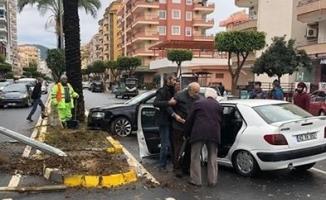 Alanya'da yürekleri ağza getiren kaza: 1 yaralı