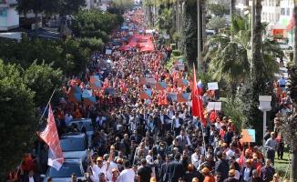 Alanya'da Cumhur İttifakı on binlerle yürüdü