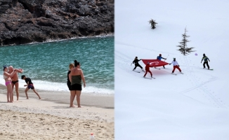 Alanya'da hem kar hem de deniz keyfi