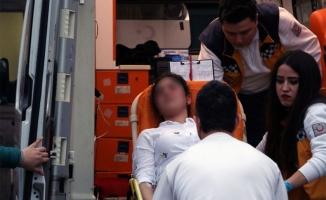 Alanya'da kadın sürücü feci kazada yaralandı!