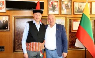 Büyükelçi Bruzga'dan  Şahin'e ziyaret
