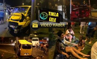 Alanya'da turist taşıyan taksiyle midibüs çarpıştı: 1 ölü 7 yaralı