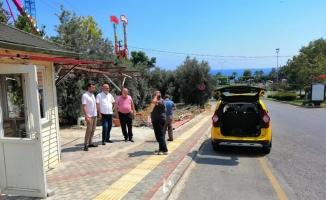 Toklu'dan taksiciye geçmiş olsun ziyareti