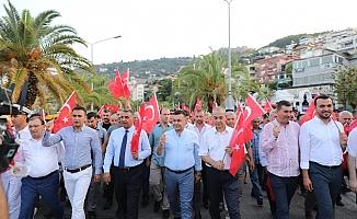 Alanya'da 'Milli Birlik Yürüyüşü' düzenlendi