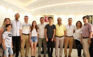 Başkan Yücel, Türkiye birincilerini ağırladı