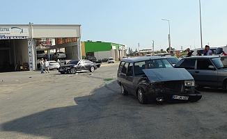 Sanayi sitesinde trafik kazası: 1 yaralı