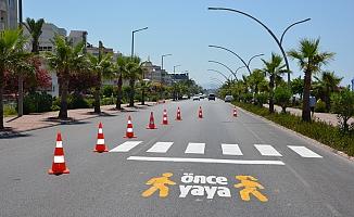 """Alanya'da """" Önce Yaya """" projesi çalışmaları sürüyor"""