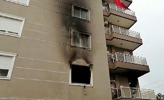 Ev yangını paniğe neden oldu!