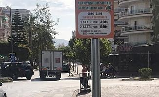 Mahmutlar'da parkomat sistemi başladı!