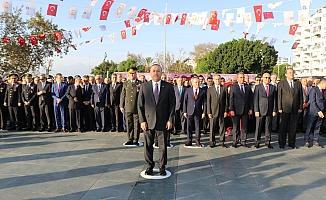 Bakan Çavuşoğlu, Atatürk'ü anma törenine katıldı