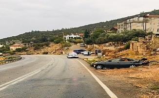 Kaygan yolda otomobil takla attı: 1 yaralı