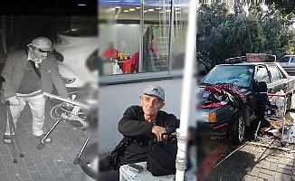 Engelli şahıs hırsızlık yaparken kameralara yakalandı