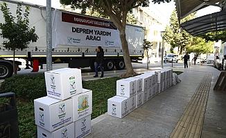 28 tonluk yardım tırı Elazığ'a yola çıktı