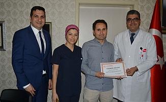 Alanya'da doktorlara teşekkür belgesi verildi