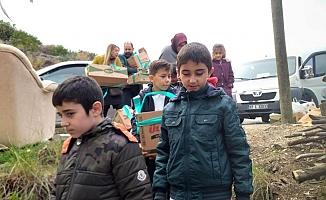 Alanya'da öğrencilerden ihtiyaç sahiplerine yardım paketi!