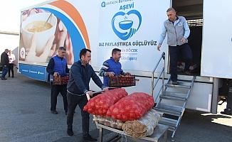 Antalya'dan deprem bölgesine arama kurtarma ekibi ve yardım TIR'ı