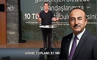 Bakan Çavuşoğlu'dan depremzedelere canlı yayında destek!