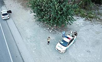 Antalya trafiği helikopter ile denetlendi