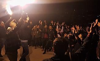 Karabük'te Galatasaraylıların derbi coşkusu