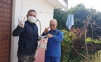 Ülkücü gençler yaşlıların hizmetinde