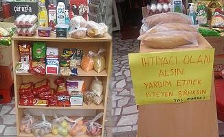 Alanya'daki marketlerde yardım stantları kuruluyor