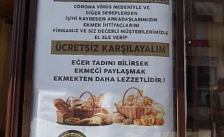 Milli dayanışma kampanyasına ücretsiz ekmekle destek verdi