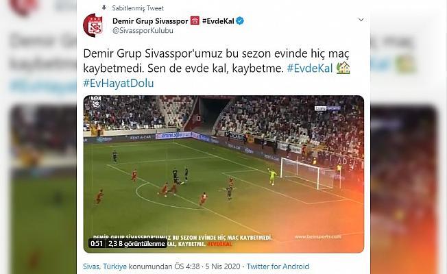 Sivasspor'dan anlamlı paylaşım
