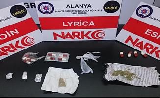 Alanya'da polisten uyuşturucu operasyonu!